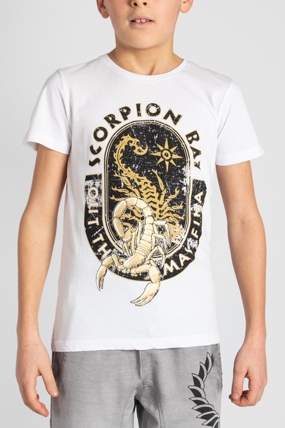 T- shirt Manica Corta in Cotone Boys SCORPION BAY