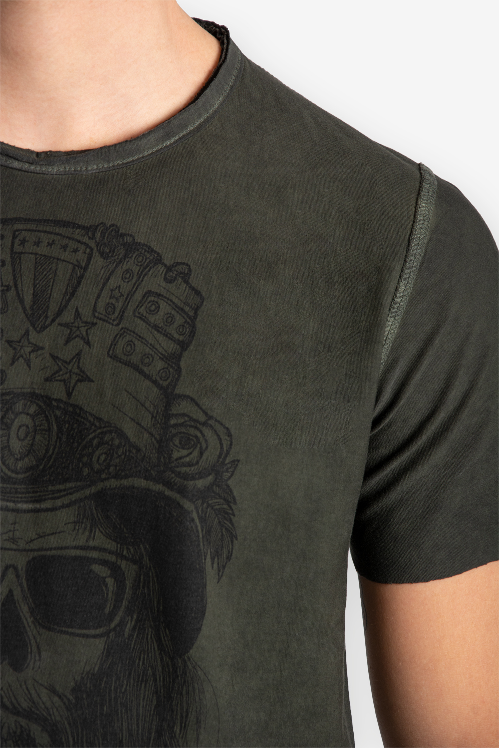 T-shirt Manica Corta Uomo Double Face 100% Cotone TATTOO